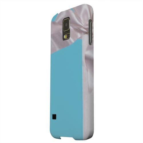 Geeks Designer Line (GDL) Samsung Galaxy S5 Matte Hard Back Cover - Turquoise Gift w/ White Satin Bow