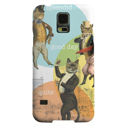 Geeks Designer Line (GDL) Samsung Galaxy S5 Matte Hard Back Cover - Dandy Kitties