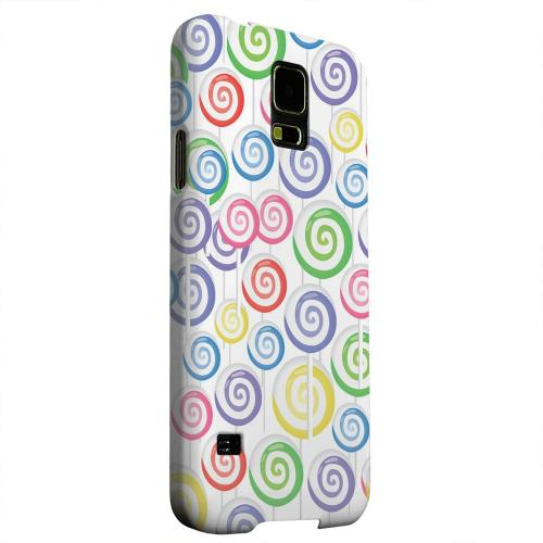 Geeks Designer Line (GDL) Samsung Galaxy S5 Matte Hard Back Cover - Assorted Lollipops