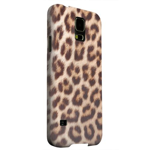 Geeks Designer Line (GDL) Samsung Galaxy S5 Matte Hard Back Cover - Leopard Close-Up