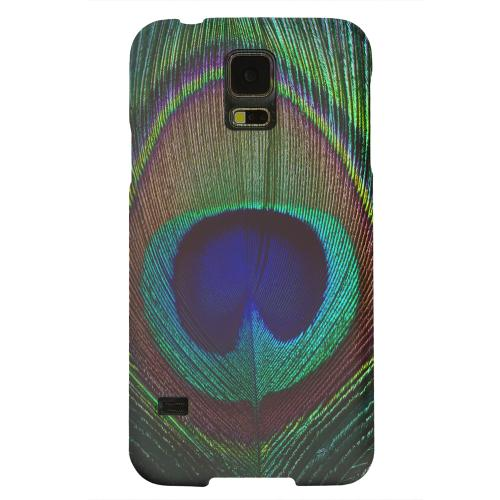 Geeks Designer Line (GDL) Samsung Galaxy S5 Matte Hard Back Cover - Colorful Peacock Feather