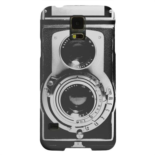 Geeks Designer Line (GDL) Samsung Galaxy S5 Matte Hard Back Cover - Black Film Noir Camera