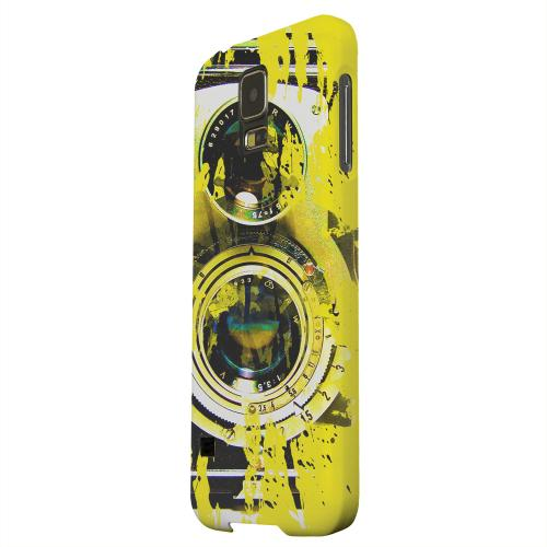 Geeks Designer Line (GDL) Samsung Galaxy S5 Matte Hard Back Cover - Chaotic Yellow Camera