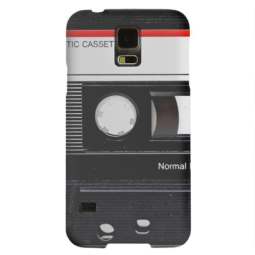 Geeks Designer Line (GDL) Samsung Galaxy S5 Matte Hard Back Cover - Black Cassette Close Up