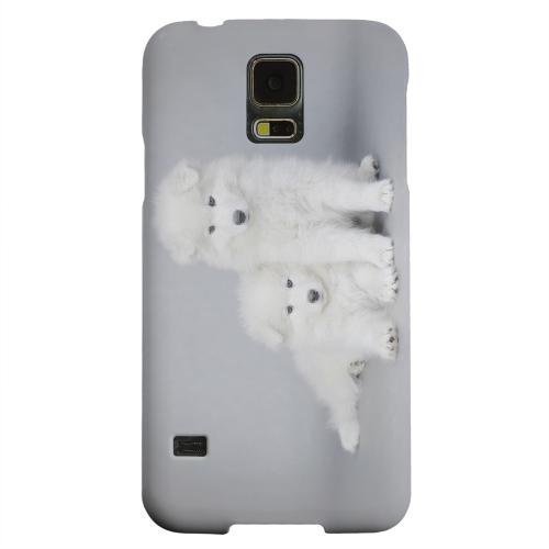 Geeks Designer Line (GDL) Samsung Galaxy S5 Matte Hard Back Cover - Samoyed Puppies