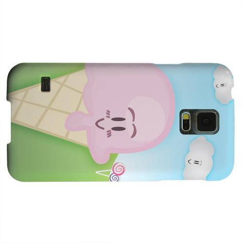 Geeks Designer Line (GDL) Samsung Galaxy S5 Matte Hard Back Cover - Cute Pink Ice Cream Cone