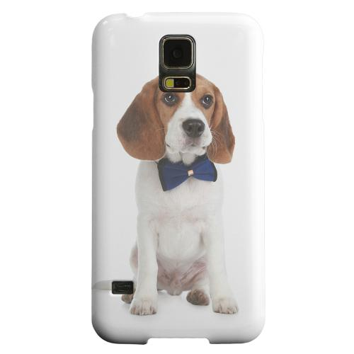 Geeks Designer Line (GDL) Samsung Galaxy S5 Matte Hard Back Cover - Beagle with Bow Tie