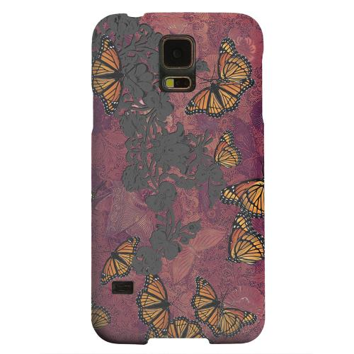 Geeks Designer Line (GDL) Samsung Galaxy S5 Matte Hard Back Cover - Butterflies on Parade