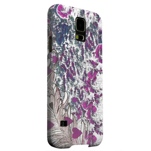 Geeks Designer Line (GDL) Samsung Galaxy S5 Matte Hard Back Cover - Feather Love