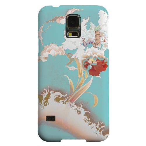 Geeks Designer Line (GDL) Samsung Galaxy S5 Matte Hard Back Cover - Flower Wave