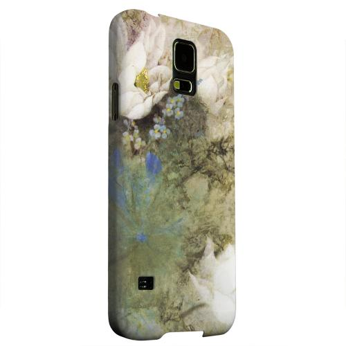 Geeks Designer Line (GDL) Samsung Galaxy S5 Matte Hard Back Cover - White Lillies