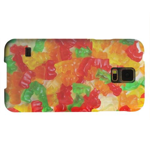 Geeks Designer Line (GDL) Samsung Galaxy S5 Matte Hard Back Cover - Multi-Colored Gummy Bears