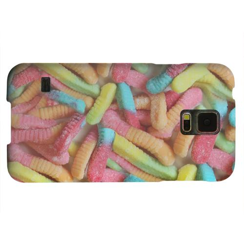 Geeks Designer Line (GDL) Samsung Galaxy S5 Matte Hard Back Cover - Multi-Colored Gummy Worms