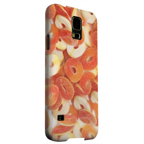 Geeks Designer Line (GDL) Samsung Galaxy S5 Matte Hard Back Cover - Orange/White Gummy Rings
