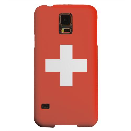 Geeks Designer Line (GDL) Samsung Galaxy S5 Matte Hard Back Cover - Switzerland