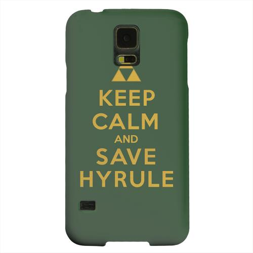 Geeks Designer Line (GDL) Samsung Galaxy S5 Matte Hard Back Cover - Green Save Hyrule