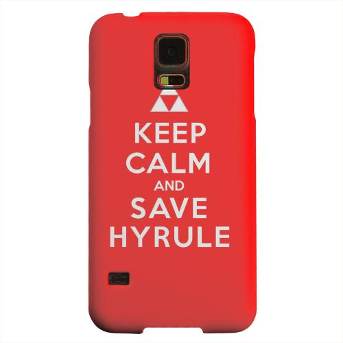 Geeks Designer Line (GDL) Samsung Galaxy S5 Matte Hard Back Cover - Red Save Hyrule