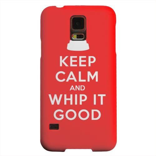 Geeks Designer Line (GDL) Samsung Galaxy S5 Matte Hard Back Cover - Red Whip It Good