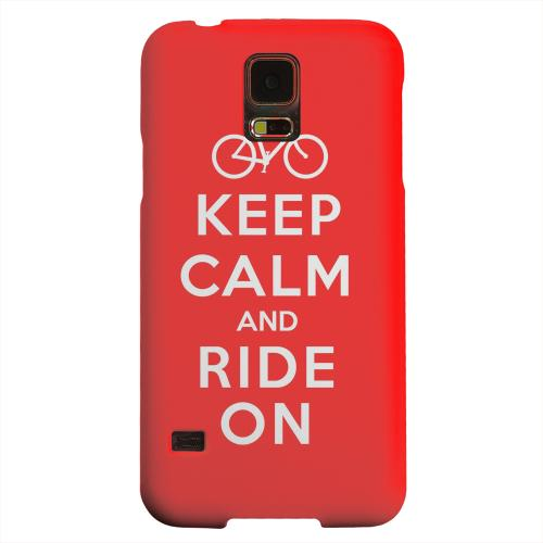 Geeks Designer Line (GDL) Samsung Galaxy S5 Matte Hard Back Cover - Red Ride On