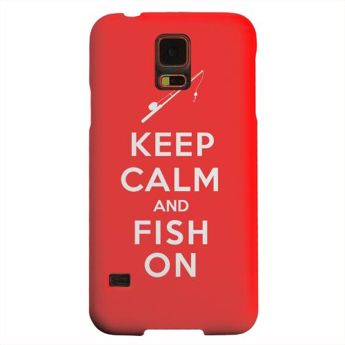 Geeks Designer Line (GDL) Samsung Galaxy S5 Matte Hard Back Cover - Red Fish On