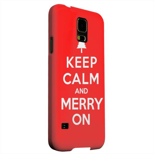 Geeks Designer Line (GDL) Samsung Galaxy S5 Matte Hard Back Cover - Red Merry On