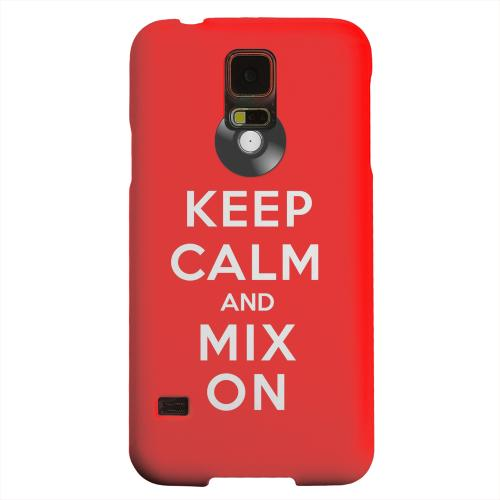 Geeks Designer Line (GDL) Samsung Galaxy S5 Matte Hard Back Cover - Red Mix On