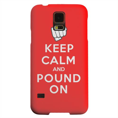 Geeks Designer Line (GDL) Samsung Galaxy S5 Matte Hard Back Cover - Red Pound On