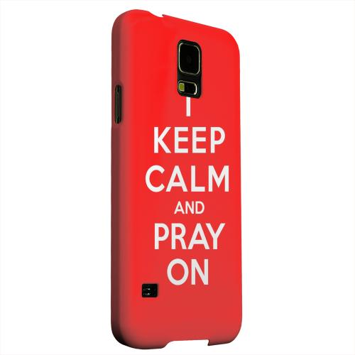 Geeks Designer Line (GDL) Samsung Galaxy S5 Matte Hard Back Cover - Red Pray On
