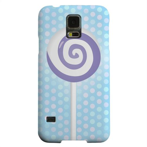 Geeks Designer Line (GDL) Samsung Galaxy S5 Matte Hard Back Cover - Purple Lollipop