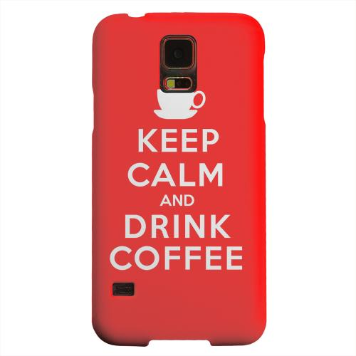 Geeks Designer Line (GDL) Samsung Galaxy S5 Matte Hard Back Cover - Red Drink Coffee