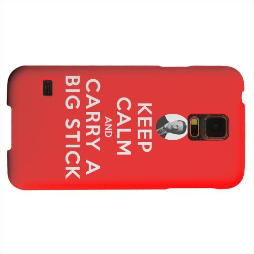 Geeks Designer Line (GDL) Samsung Galaxy S5 Matte Hard Back Cover - Red Carry A Big Stick