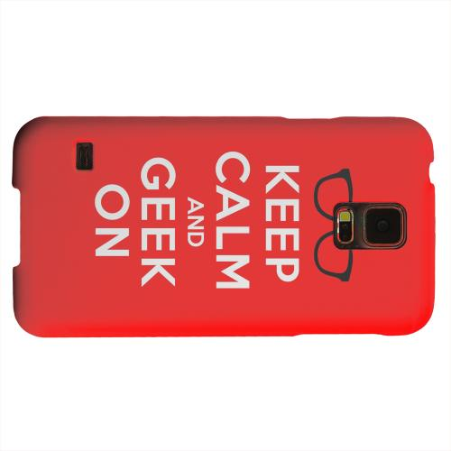 Geeks Designer Line (GDL) Samsung Galaxy S5 Matte Hard Back Cover - Red Geek On