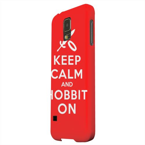 Geeks Designer Line (GDL) Samsung Galaxy S5 Matte Hard Back Cover - Red Hobbit On