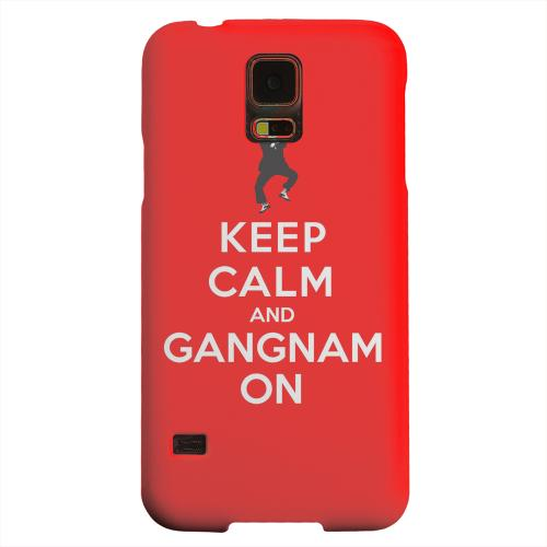 Geeks Designer Line (GDL) Samsung Galaxy S5 Matte Hard Back Cover - Red Gangnam On