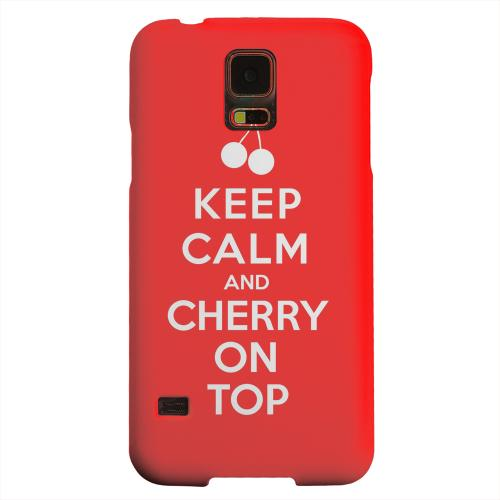 Geeks Designer Line (GDL) Samsung Galaxy S5 Matte Hard Back Cover - Red Cherry On Top