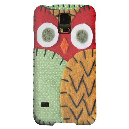 Geeks Designer Line (GDL) Samsung Galaxy S5 Matte Hard Back Cover - Red/ Orange Owl