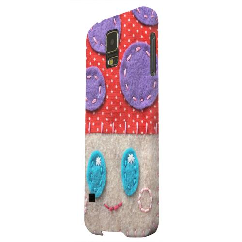 Geeks Designer Line (GDL) Samsung Galaxy S5 Matte Hard Back Cover - Red/ Purple Mushroom