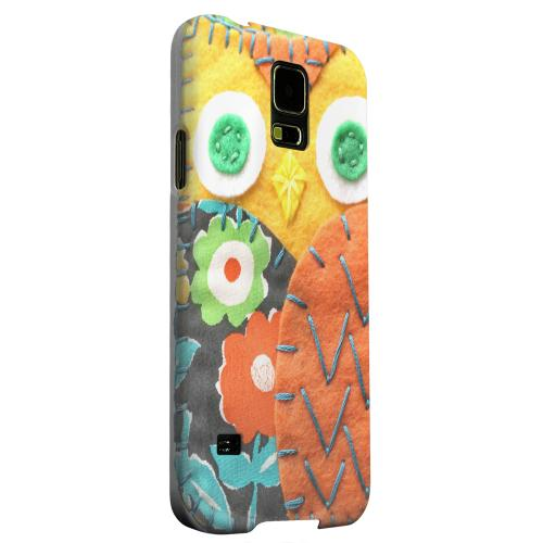 Geeks Designer Line (GDL) Samsung Galaxy S5 Matte Hard Back Cover - Yellow/ Orange Owl