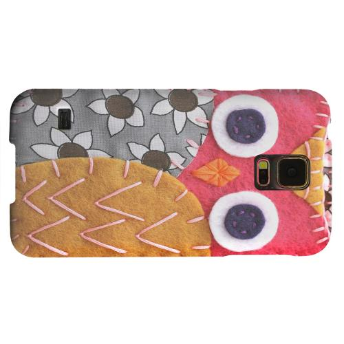 Geeks Designer Line (GDL) Samsung Galaxy S5 Matte Hard Back Cover - Hot Pink/ Dark Blue Owl