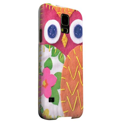 Geeks Designer Line (GDL) Samsung Galaxy S5 Matte Hard Back Cover - Hot Pink/ Green Owl