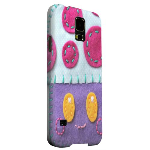 Geeks Designer Line (GDL) Samsung Galaxy S5 Matte Hard Back Cover - Purple/ Pink Mushroom