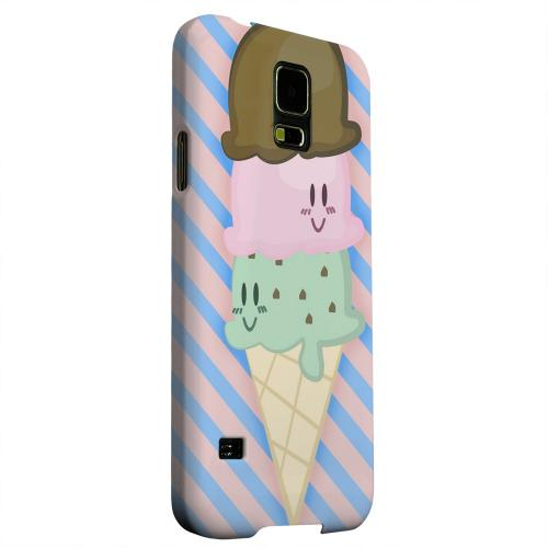 Geeks Designer Line (GDL) Samsung Galaxy S5 Matte Hard Back Cover - Triple Scoop Ice Cream Cone