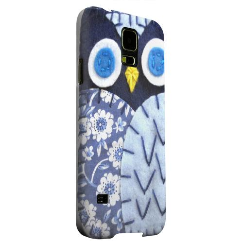 Geeks Designer Line (GDL) Samsung Galaxy S5 Matte Hard Back Cover - Night Blue Owl
