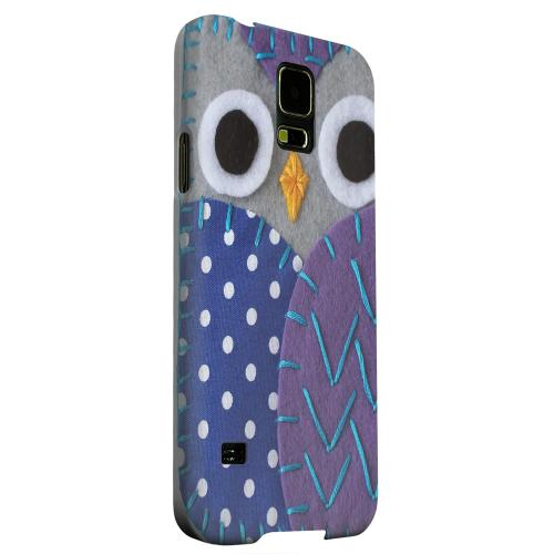 Geeks Designer Line (GDL) Samsung Galaxy S5 Matte Hard Back Cover - Gray/ Purple Owl