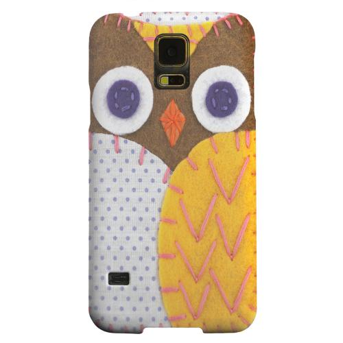 Geeks Designer Line (GDL) Samsung Galaxy S5 Matte Hard Back Cover - Brown/ Orange Owl