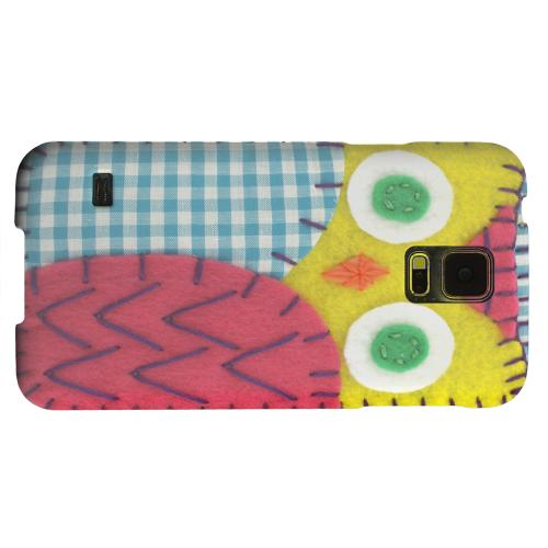 Geeks Designer Line (GDL) Samsung Galaxy S5 Matte Hard Back Cover - Yellow/ Maroon Owl