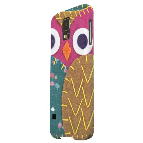 Geeks Designer Line (GDL) Samsung Galaxy S5 Matte Hard Back Cover - Hot Pink/ Brown Owl