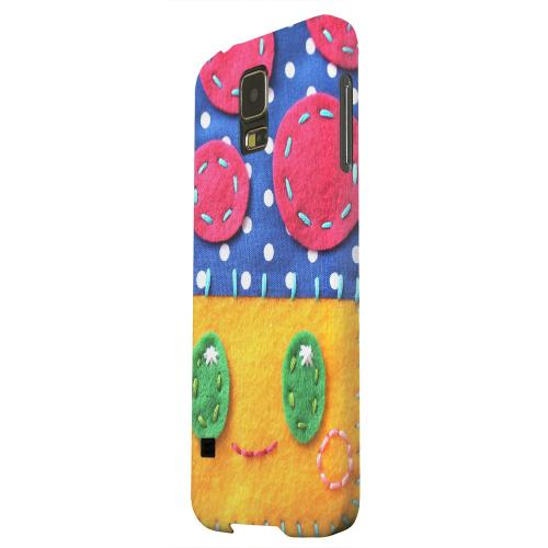 Geeks Designer Line (GDL) Samsung Galaxy S5 Matte Hard Back Cover - Blue/ Yellow Mushroom