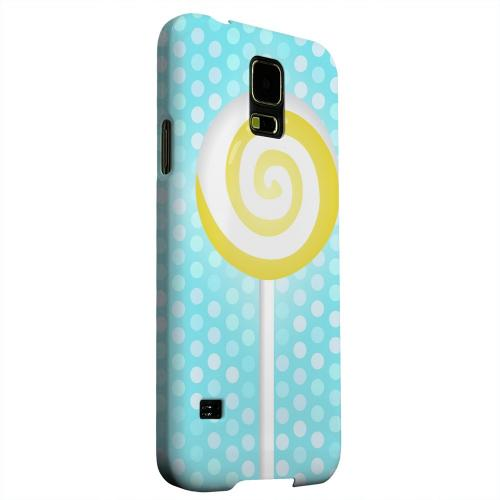 Geeks Designer Line (GDL) Samsung Galaxy S5 Matte Hard Back Cover - Yellow Lollipop