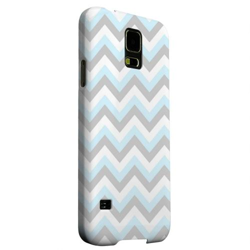 Geeks Designer Line (GDL) Samsung Galaxy S5 Matte Hard Back Cover - Blue on Gray on White